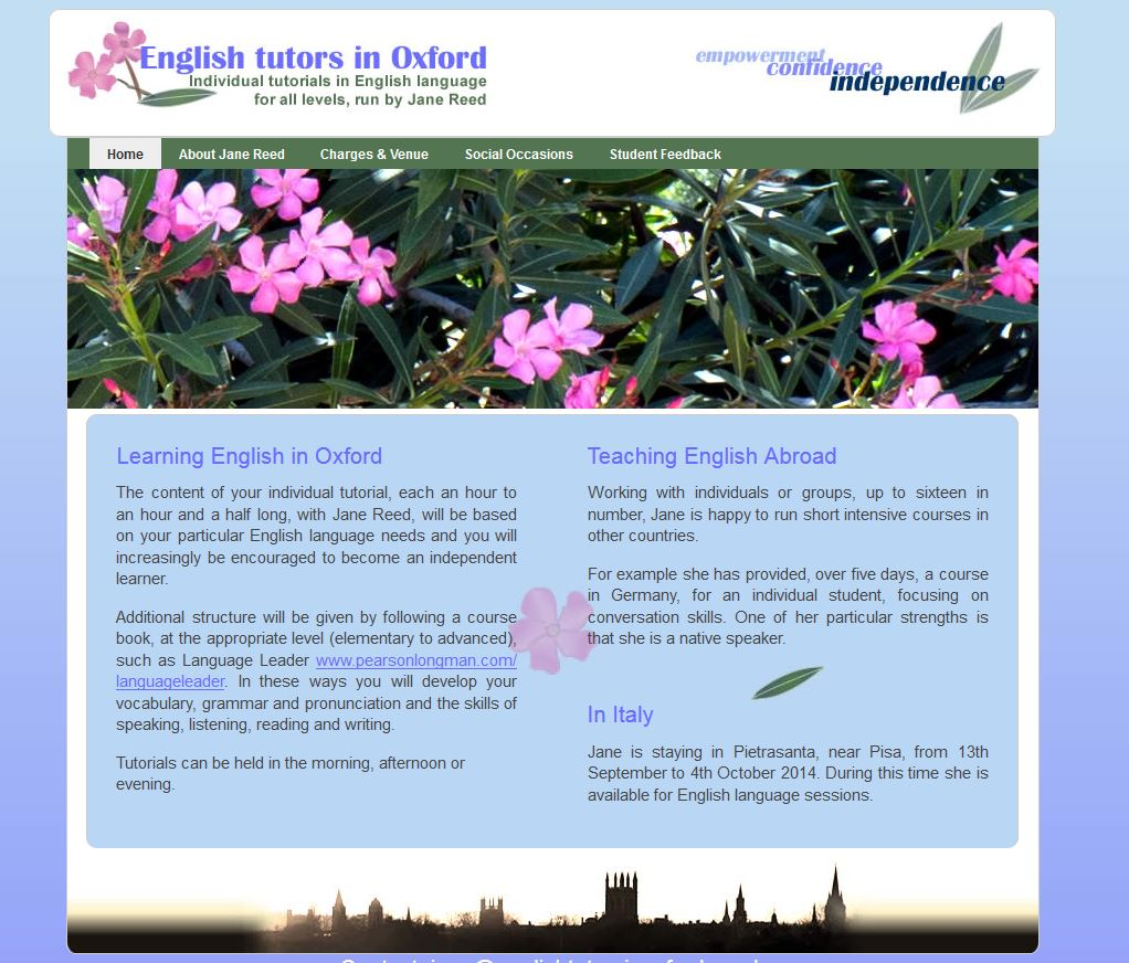 English Tutors in Oxford